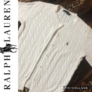 BNWOT Polo Ralph Lauren S/S  Cotton Knit Cardigan